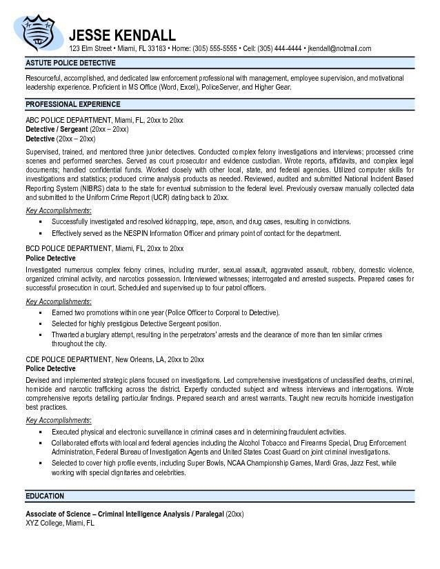Download Police Resume Examples | haadyaooverbayresort.com