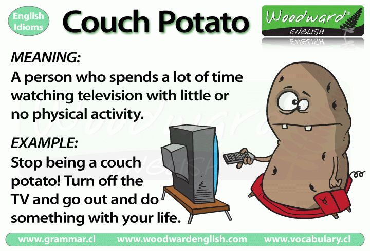 Couch Potato – English Idiom Meaning | Woodward English