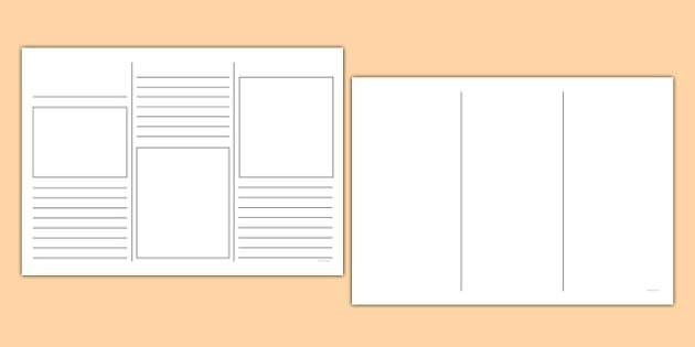 Template - writing template, writing aid, leaflets