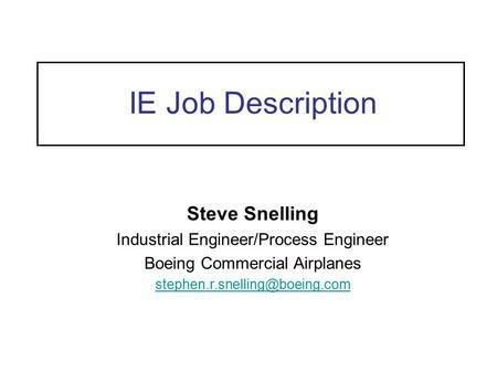 Manufacturing Engineering Skills - ppt download