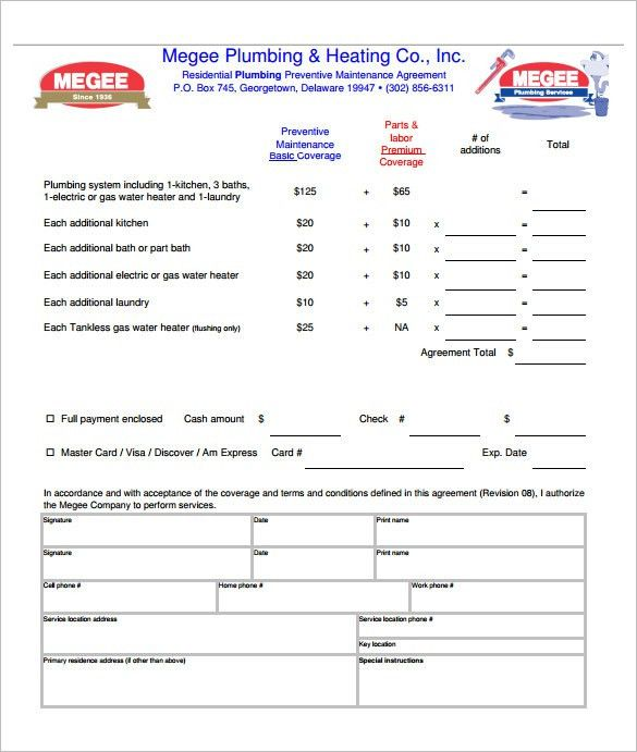 5+ Plumbing Contract Templates U2013 Free Word, PDF Format Download .