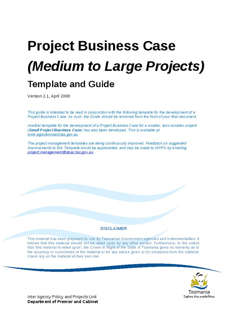 Project Business Case Template And Guide For Medium To Large .  It Project Business Case Template