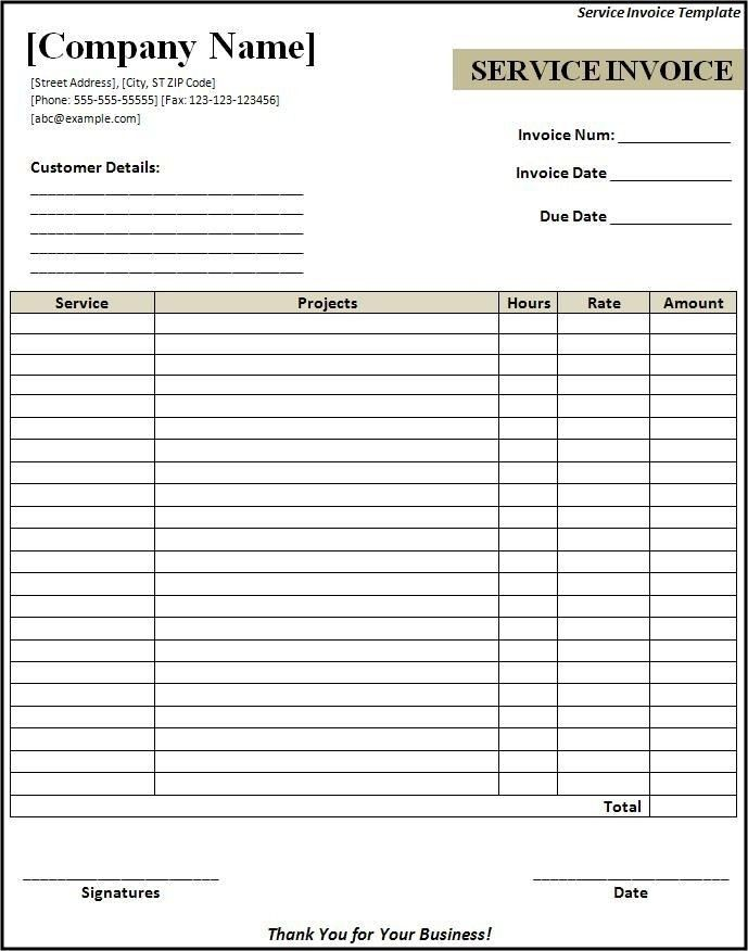Itemized Invoice Template - Best Resume Collection