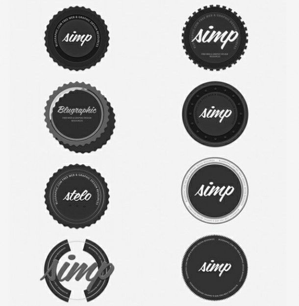 dark grey vintage circle badges set psd | FREE DOWNLOADS | Pinterest