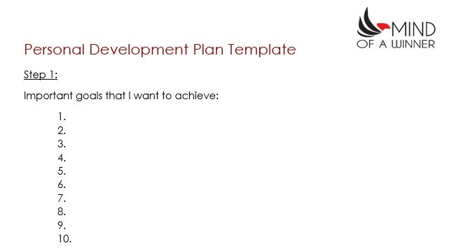 How to Create a Personal Development Plan | Mind of a Winner
