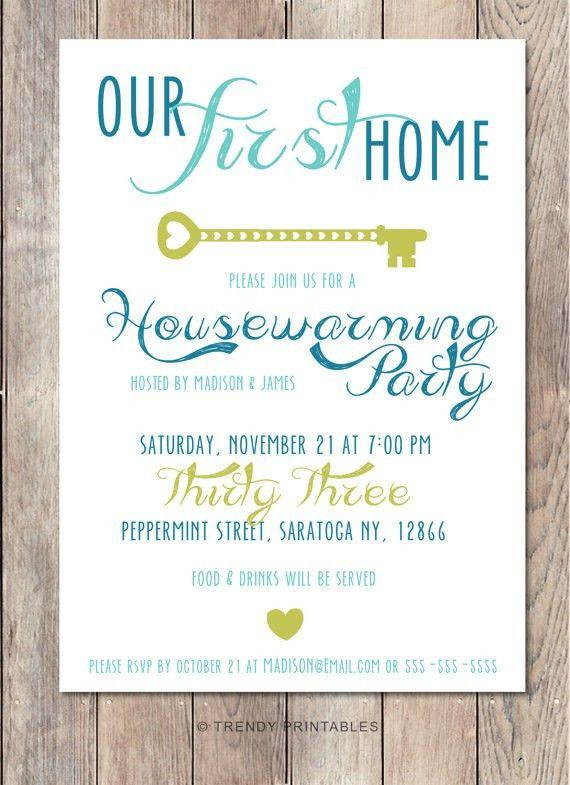 Housewarming Party Invitations Template | almsignatureevents.com