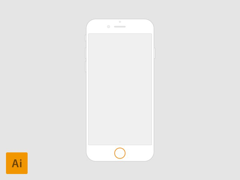 iPhone 6 - 4.7'' vector for Wireframes by Fedza Miralem - Dribbble