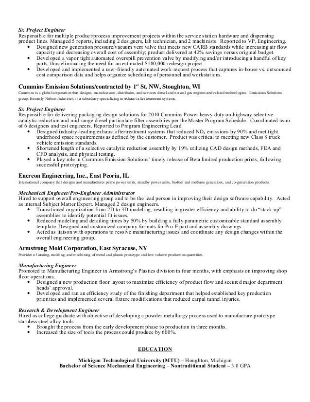 product engineer resume free product engineer resume example top