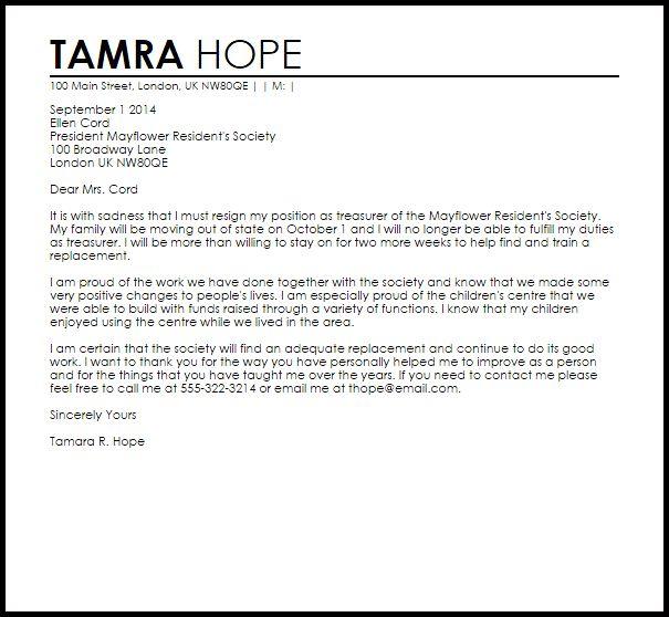 positive resignation letter