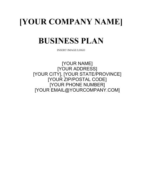 Business Plan - Template & Sample Form | Biztree.com
