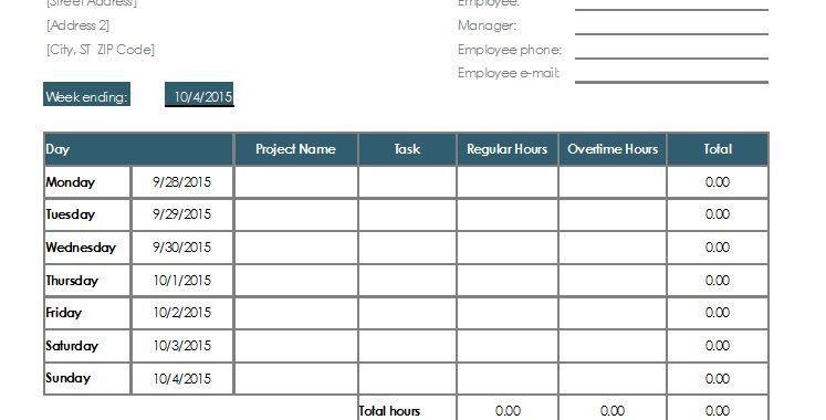 4 Free Sample Employee Task List Templates – OpenOffice Calc Templates