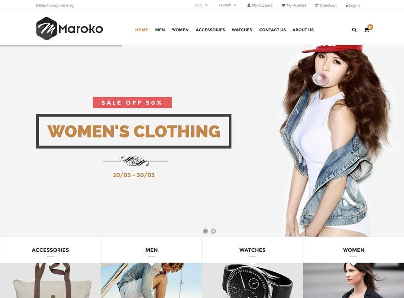 70+ Best Clothes Fashion Magento Themes Free & Premium ...