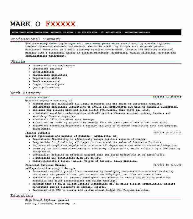 Best Finance Manager Resume Example | LiveCareer