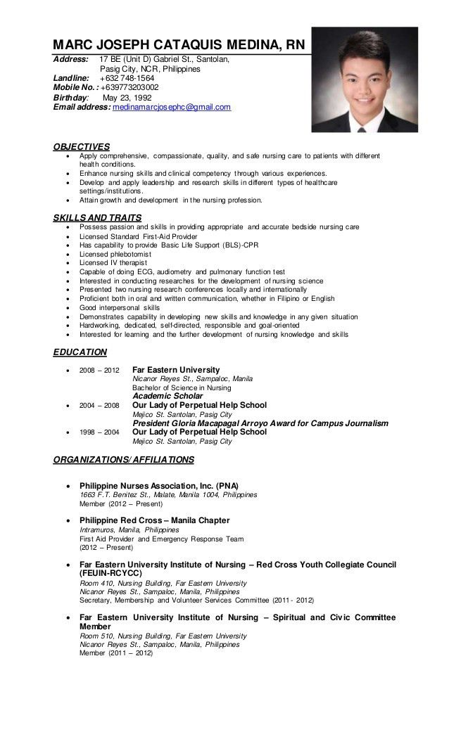 Sample resume nurses without experience