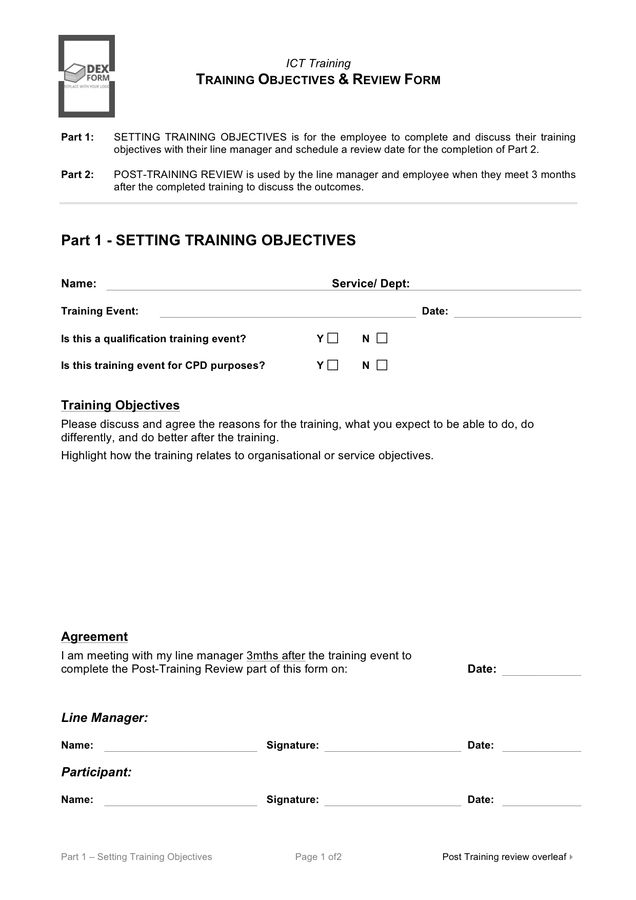 Training Evaluation Form - download free documents for PDF, Word ...
