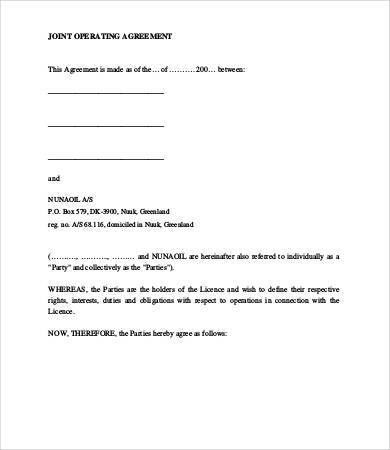 Operating Agreement Template - 8+ Free Word, PDF Documents ...