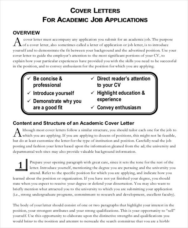 Cover Letter Examples For Jobs Not Advertised | Docoments Ojazlink