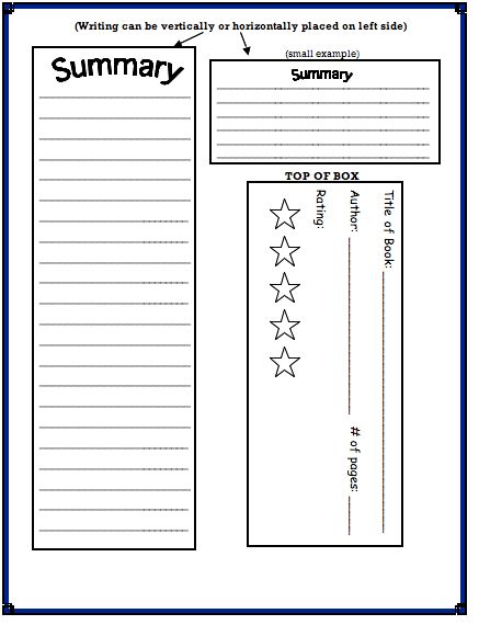Cereal Box Book Reports Template | cereal box book report template ...