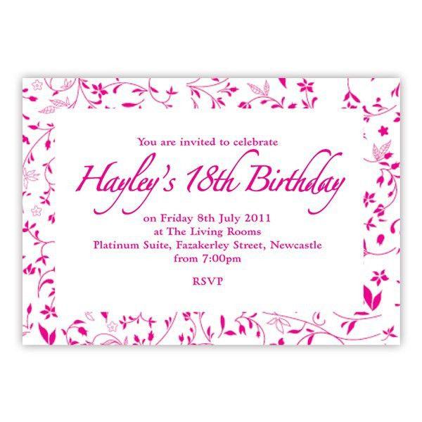 Create 18th Birthday Invitations Free - Wedding Invitation Sample