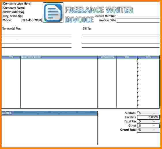 13+ freelance writer invoice template | Short paid invoice