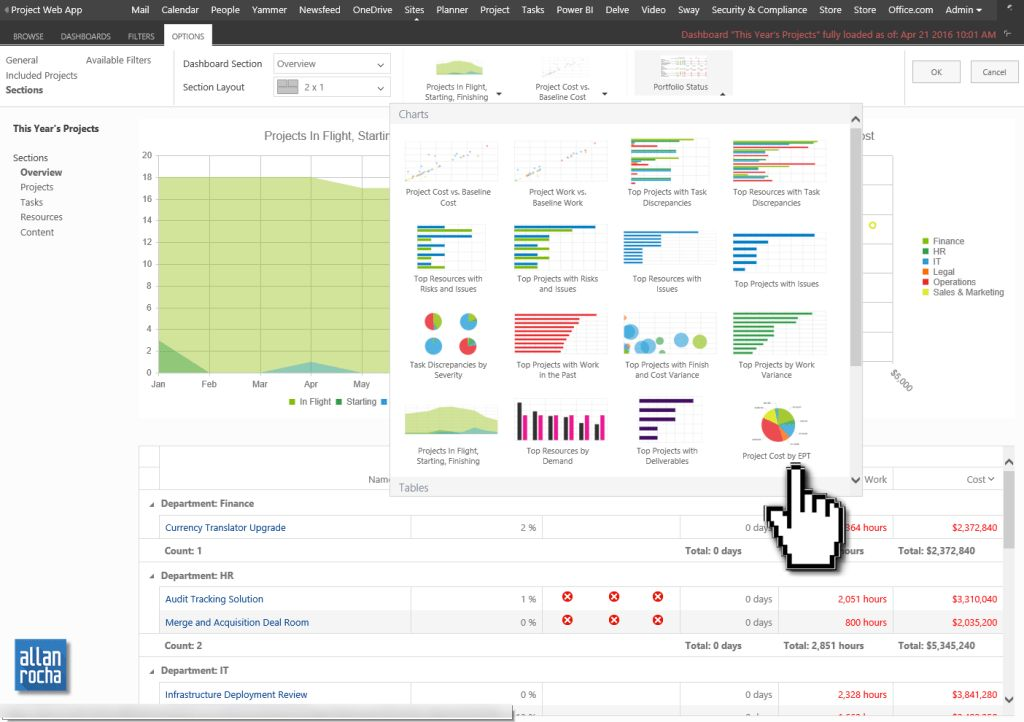Adding the New Free Office 365 Project Portfolio Dashboard app ...