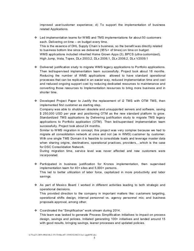 150925 - Marco López Resume & Achievements - Full detail