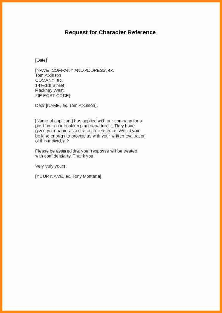 Character Reference Letter From Employer To Landlord - Cover ...