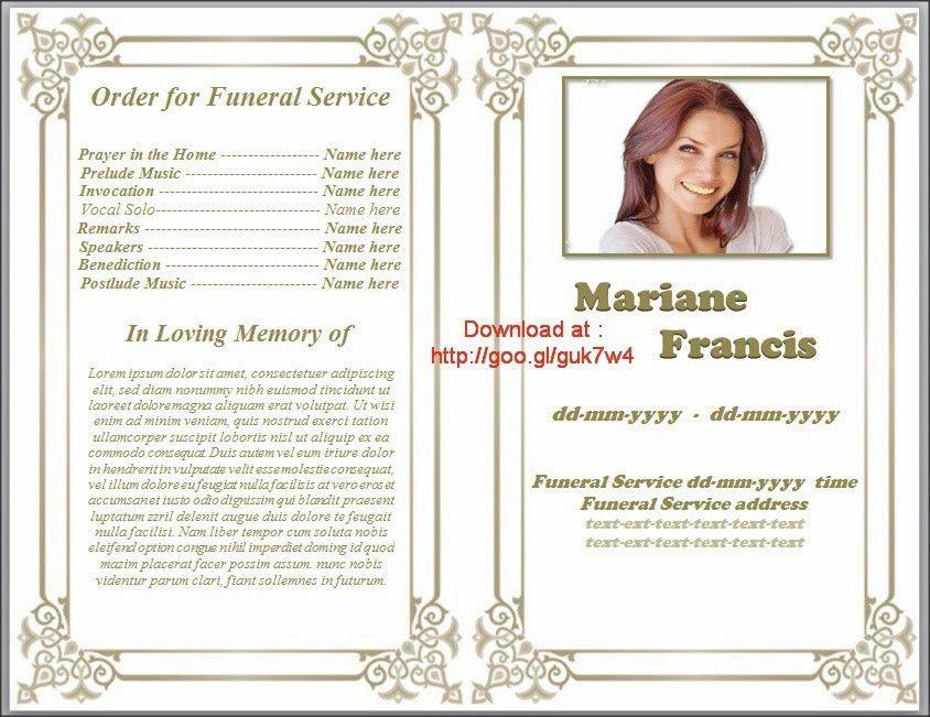 Free Funeral Program Template - vnzgames