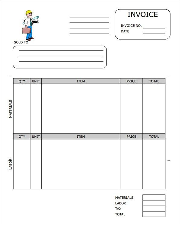 Free Construction Invoice Template Word | invoice example