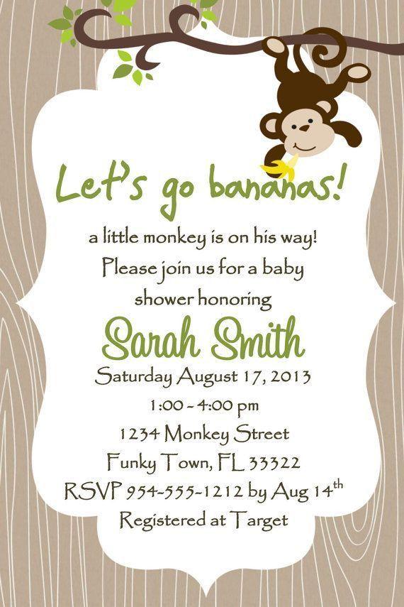 Baby Shower Invitations: Baby Shower Invite Template Monkey ...