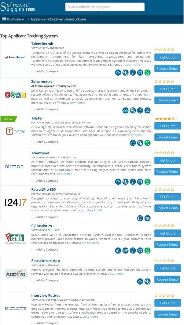 What Are the Top 5-10 Applicant Tracking Systems That IT ...