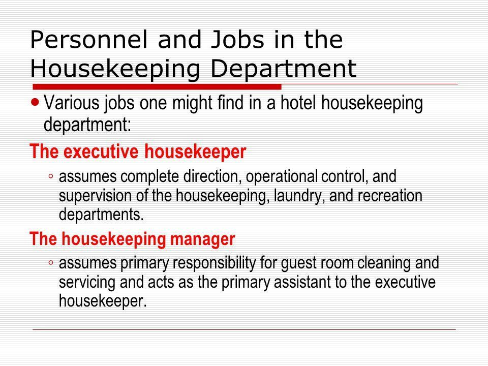HOTEL HOUSEKEEPING More than clean rooms. - ppt video online download