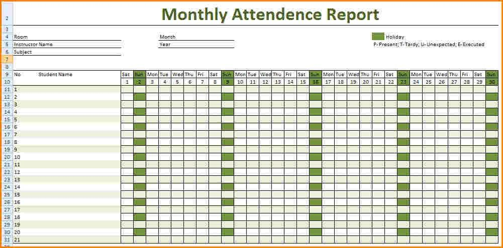 9+ daily attendance sheet | worker resume