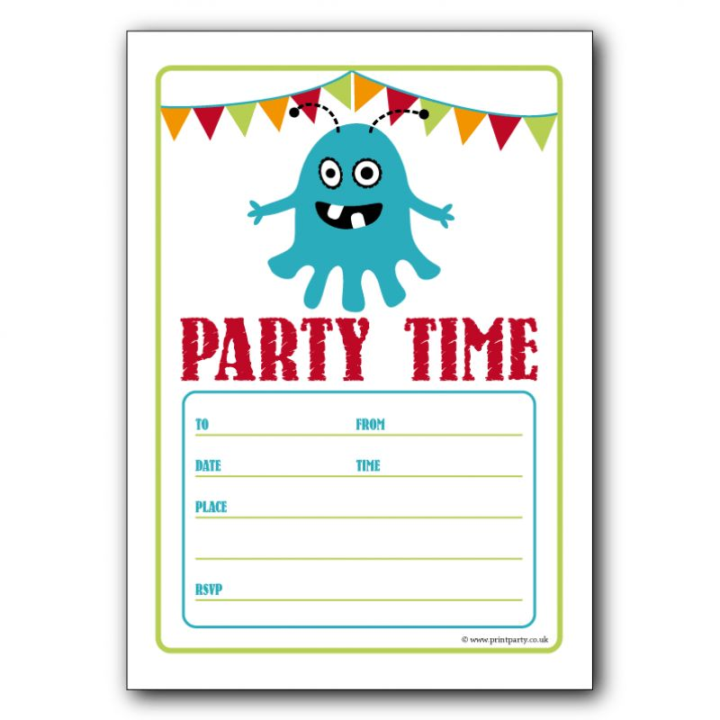Birthday Party Invitation Template Word - marialonghi.Com
