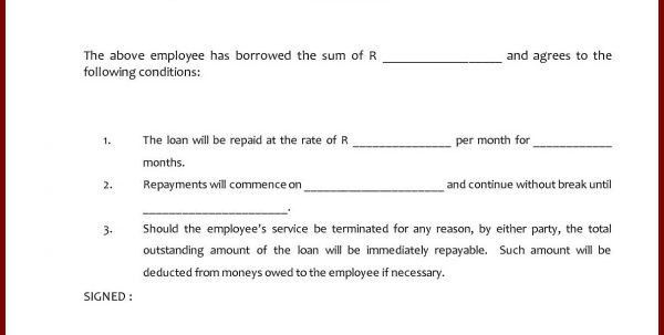 Car Loan Contract Template Free Car Loan Agreement Template Free ...