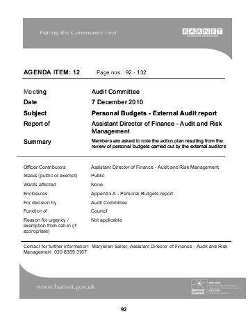 External Audit Report. D Chart 1: External Auditors' Communication ...