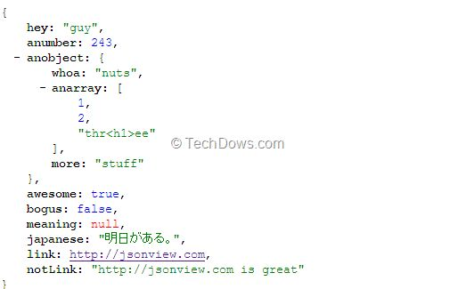 JSONView, View JSON files in Firefox and Chrome Browsers   Techdows
