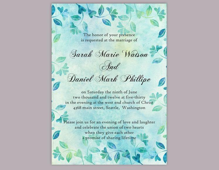 DIY Rustic Wedding Invitation Template Editable Word File Download ...