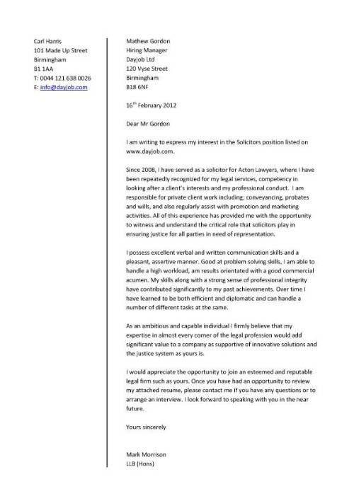 Cover Letter Sample For Job Application ...