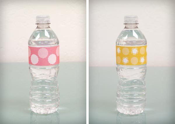 DIY Baby Shower: Water Bottle Labels {Free Download} | Baby shower ...