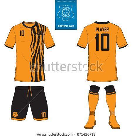 Set Soccer Kit Football Jersey Template Stock Vector 614909162 ...