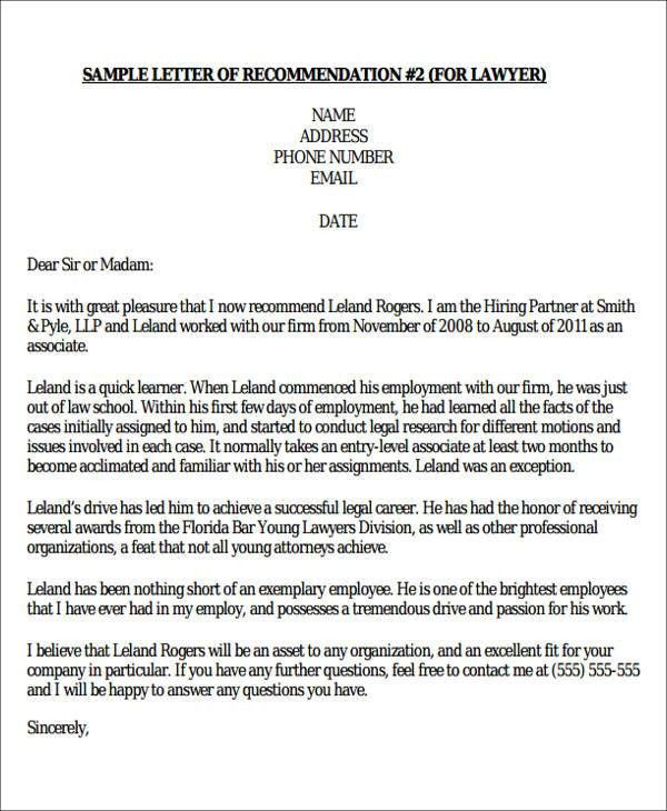 Sample Formal Letter Of Recommendation   8+ Examples In Word, PDF