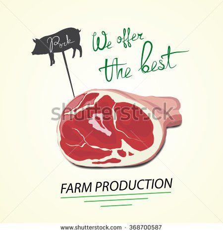 Illustration Pig Pork Farm Production Vector Stock Vector ...