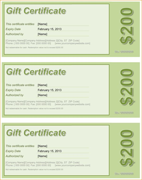 5+ gift certificate template word | Outline Templates