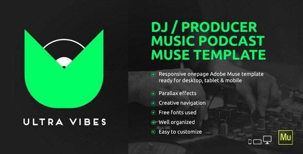 Ultra Vibes - DJ / Producer Podcast Muse Template by vinyljunkie ...