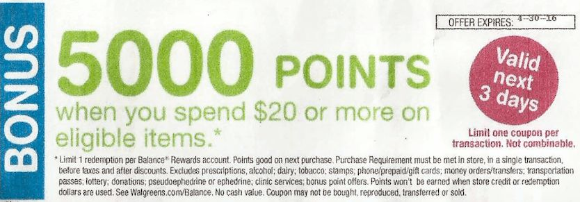 Update: Walgreens 5x EveryDay Points Coupon