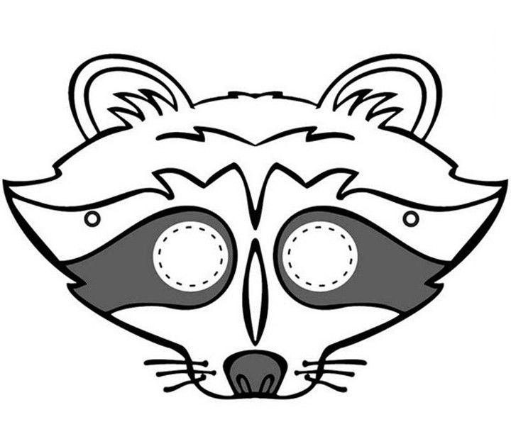 raccoon mask - Halloween Mask ... | Preschool Crafts | Pinterest ...