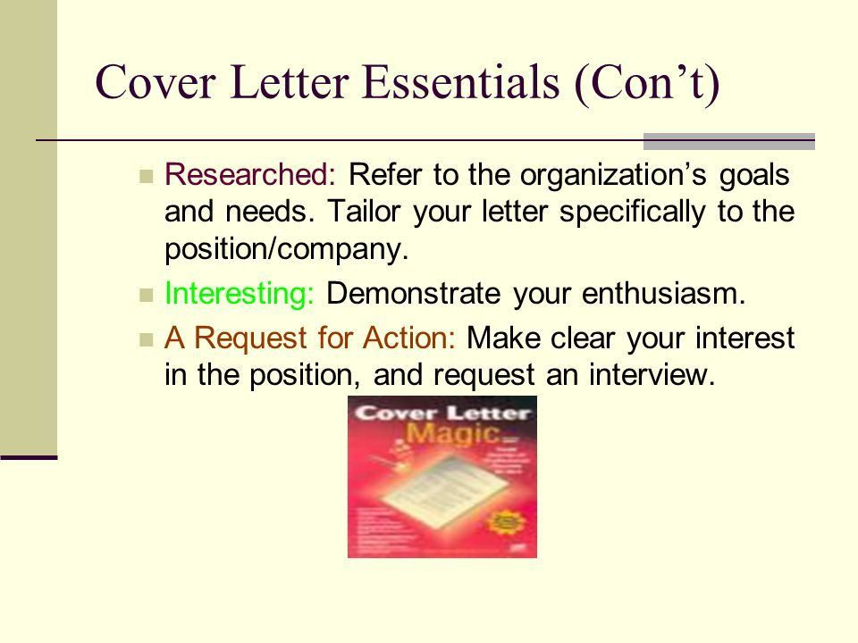 Cover Letters Purpose and Importance. Why a Cover Letter? The ...
