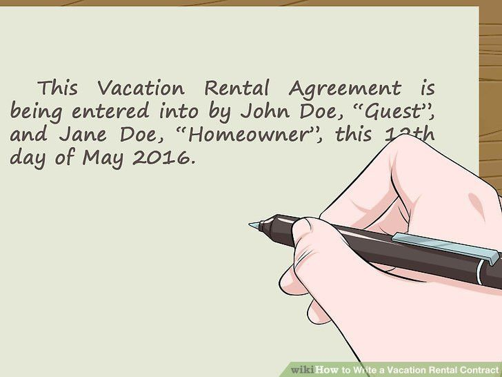 How to Write a Vacation Rental Contract (with Sample Contract)