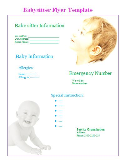 Babysitter Flyer Template. 10 best babysitting flyer template ...